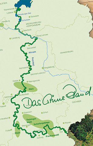 Karte Gruenes Band