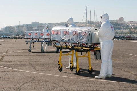 Medizinische Helfer im Ebola-Gebiet