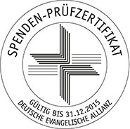 Spendenprüfzertifikat der Deutschen Evangelischen Allianz