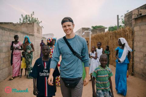 Jérôme Jarre in Senegal
