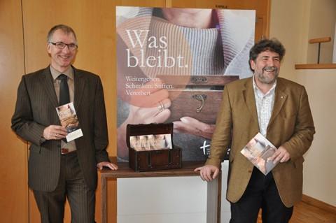Dr. Torsten Sternberg (Landeskirche Baden) und Volker Erbacher (Diakonisches Werk)