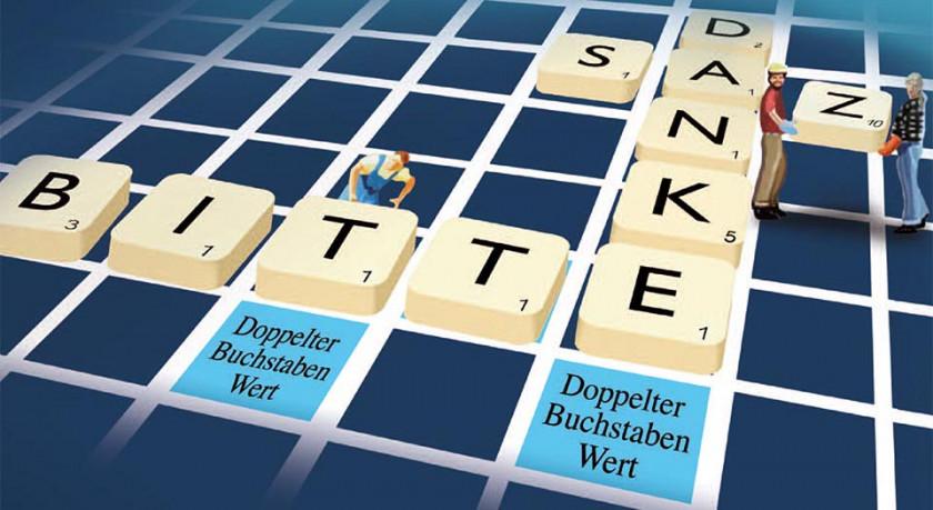Dankbrief Scrabble